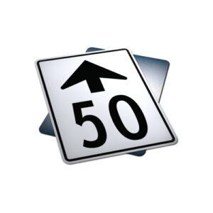 maximum speed ahead sign