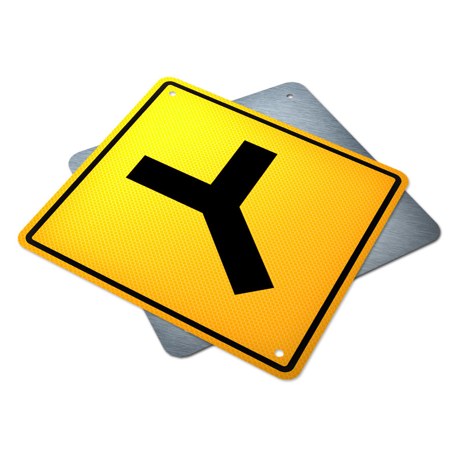 Y Intersection Sign | Traffic Supply Alberta Y Intersection
